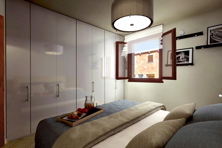 Foto progetto e modellazione camera da letto di studio di architettura 256872 habitissimo - Progetto camera da letto ...