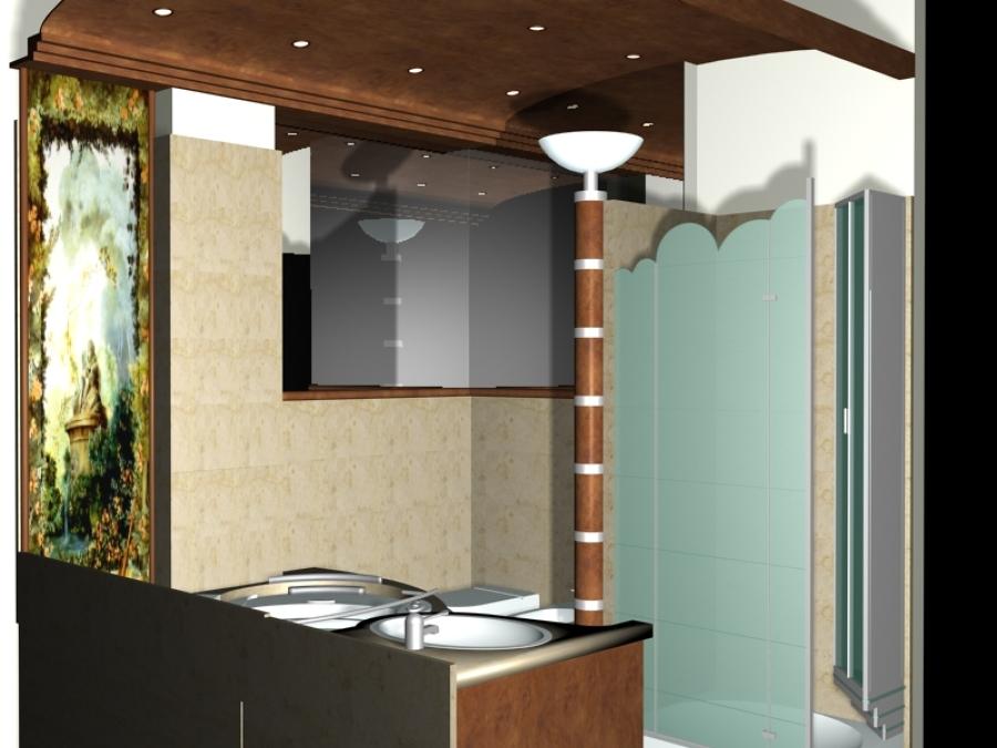 Foto progetto render arredo bagno sanremo de studio for Progetto arredo