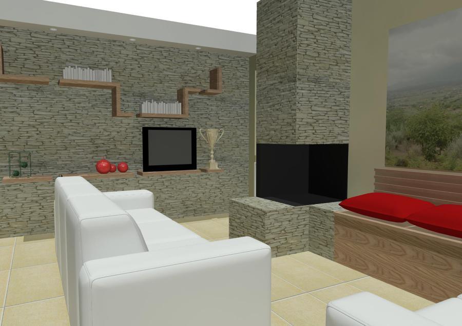 Progetto salone e camino