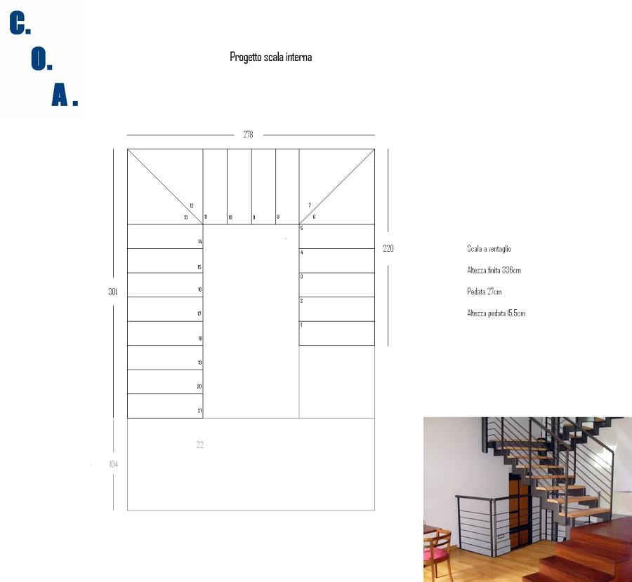 Eccezionale Foto: Progetto Scala Interna In Tubolare e Legno di Coa #334117  NC58