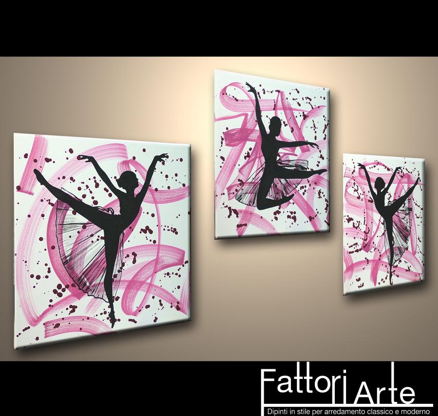 Foto quadri moderni ballerine di fattoriarte 90308 for Dipinti a mano moderni