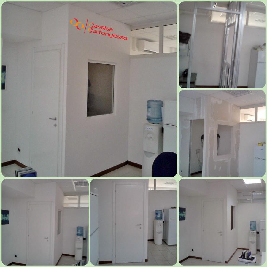 Foto realizzazione box ufficio con cartongesso - Porta di cartongesso ...