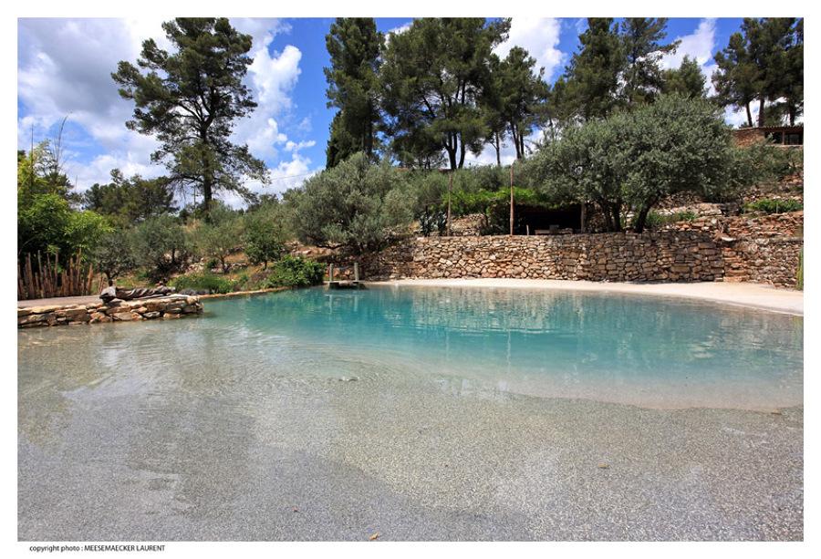 foto realizzazione di piscina artificiale de parquet