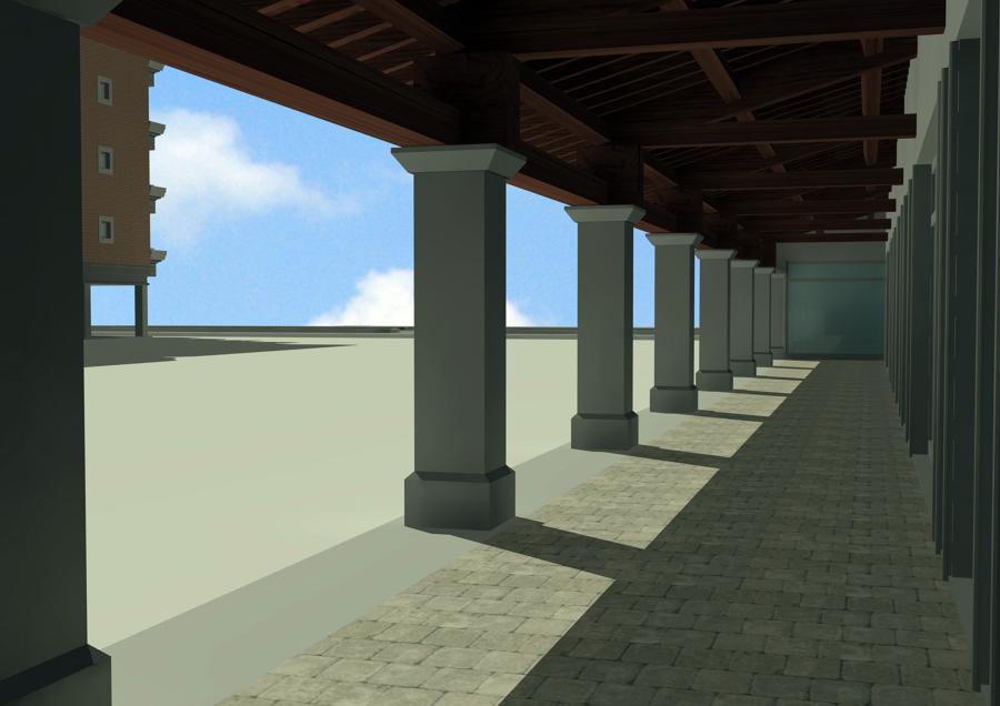 Render edificio residenziale