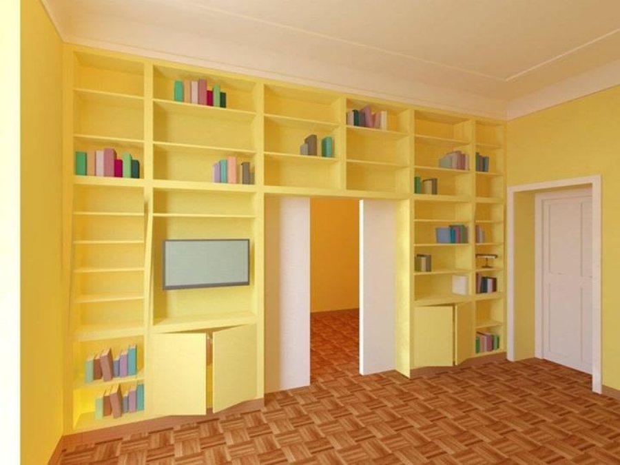 Foto rendering di una libreria de mbrstudio 229145 for Archi arredo roma