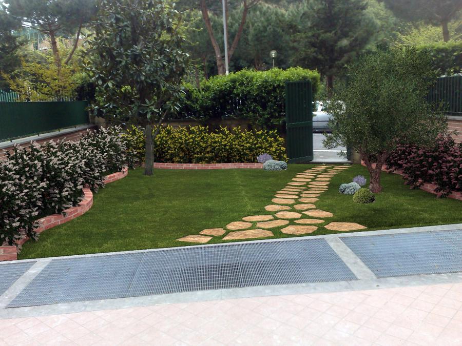 rendering simulazione giardino