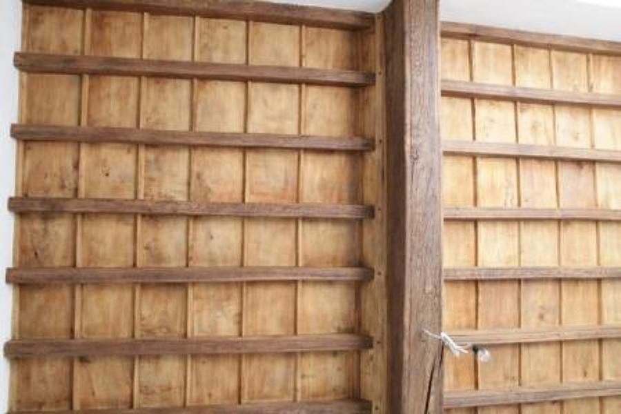 Restauro soffitto a cassettoni 1700