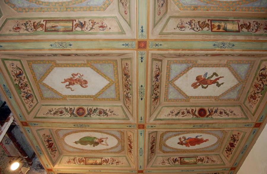 restauro soffitto in carta