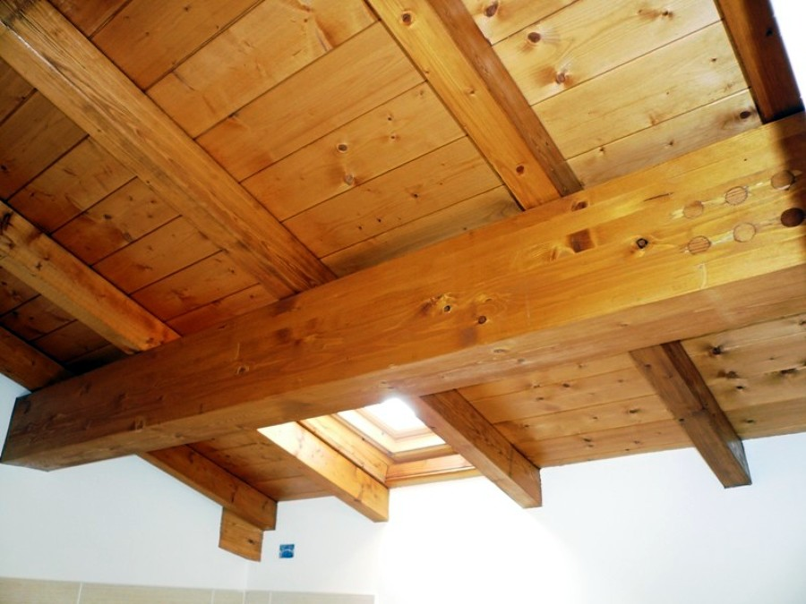 ripristino soffitti in legnio