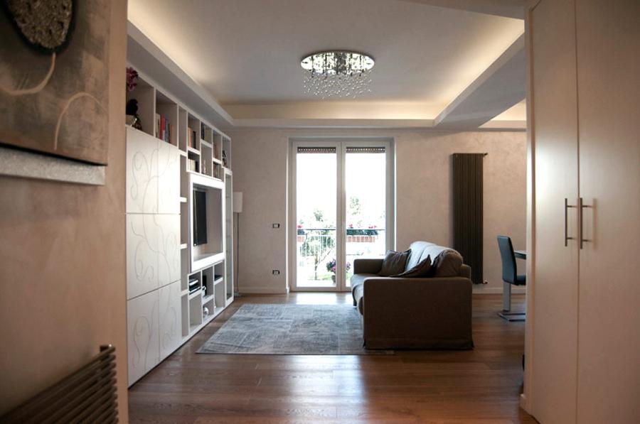 Foto ristrutturazione appartamento in zona togliatti roma for Appartamento design roma