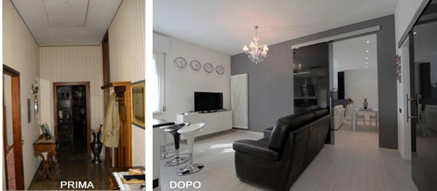 Foto ristrutturazione appartamento di studio maa design for Ristrutturare appartamento 75 mq