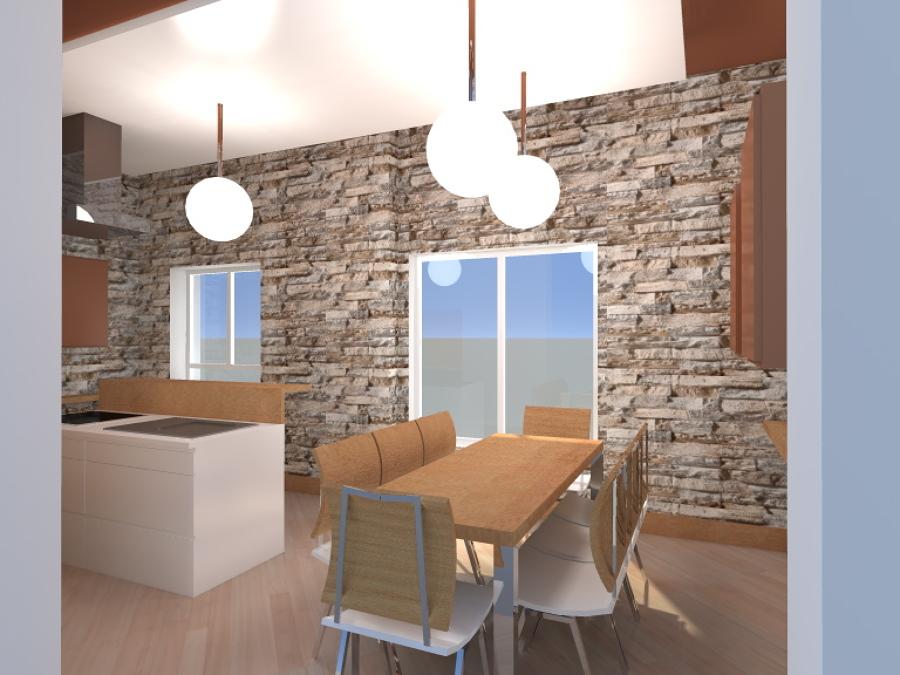 Foto ristrutturazione cucina e salone di dwg progetti - Ristrutturazione bagno e cucina ...