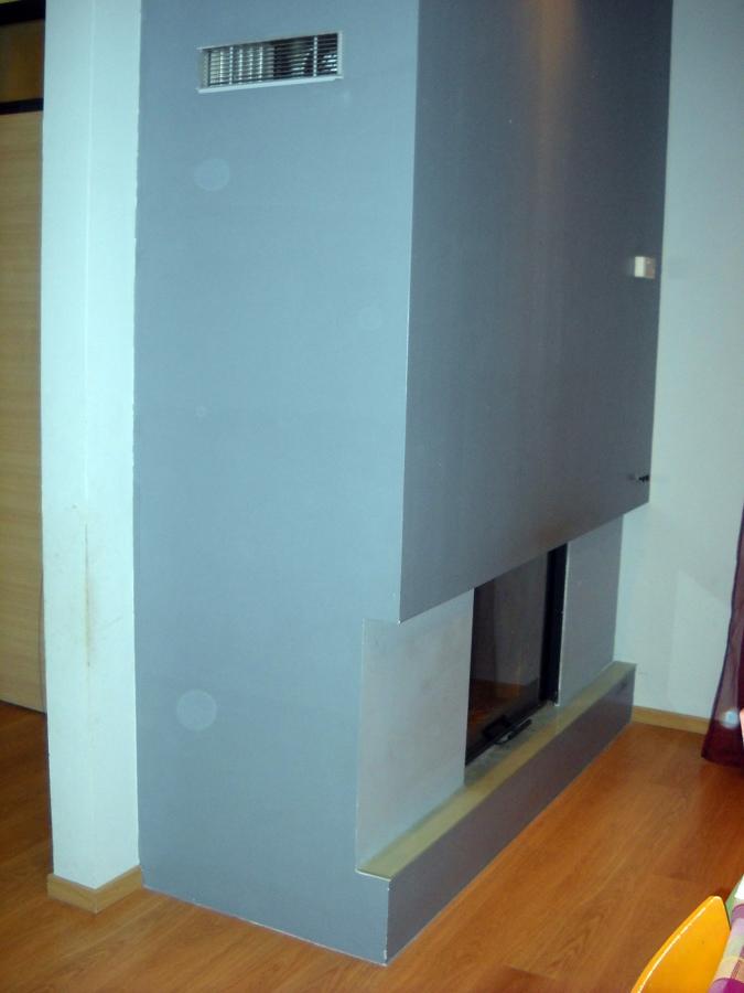 camini moderni in cartongesso : Foto: Rivestimento Caminetto In Cartongesso di Masterpaint #46925 ...