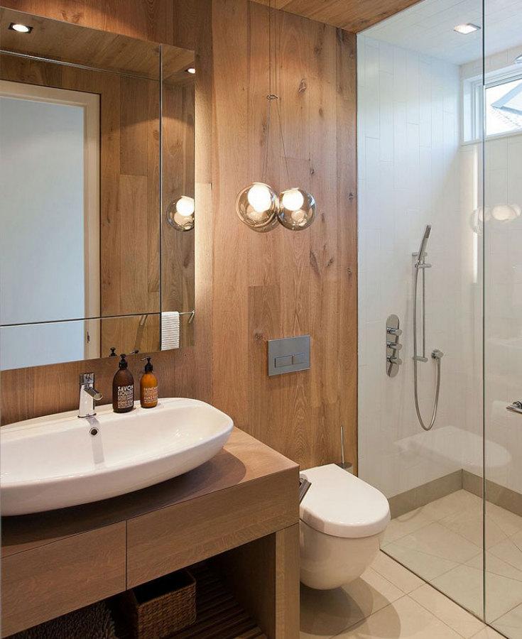 Foto rivestimento in legno di luce 149349 habitissimo - Rivestimento bagno legno ...