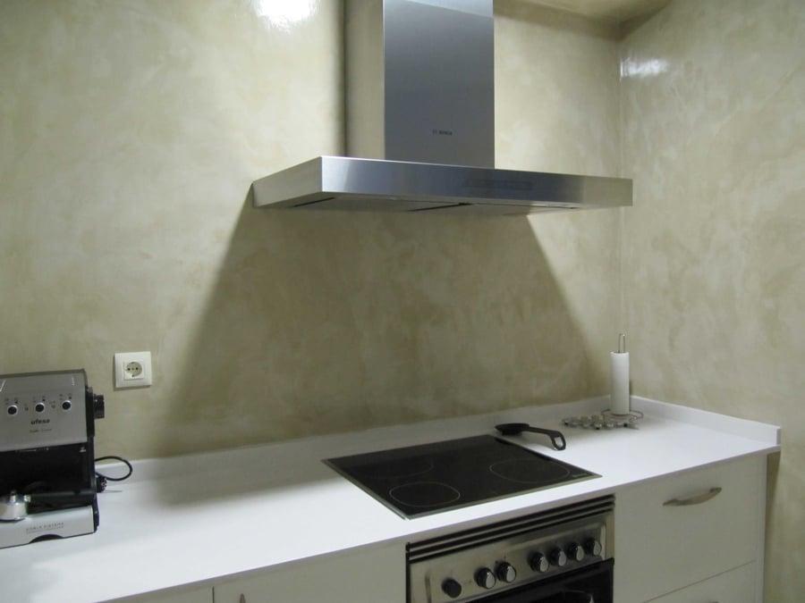 Foto rivestimento in microcemento di impresa edile ac - Cocinas de microcemento ...