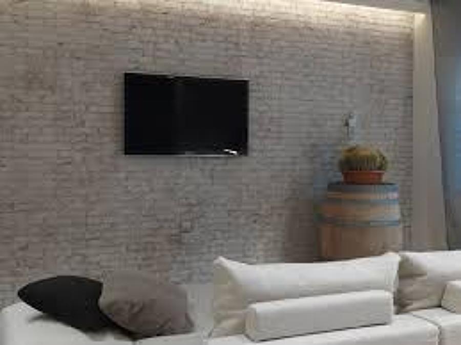 Foto rivestimento parete mattoni sbiancati di superfici - Parete a mattoncini ...