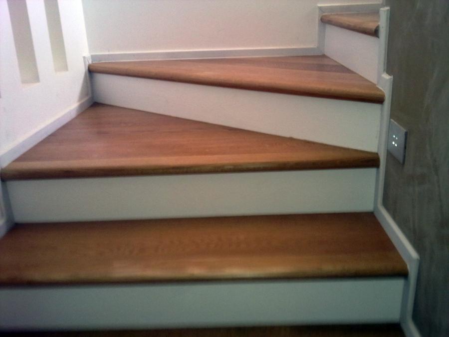 Foto rivestimento scale di ditta paolo giuliano pavimenti in legno parquet 94776 habitissimo - Rivestimento in legno per scale ...