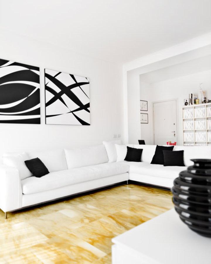Salone bianco e nero