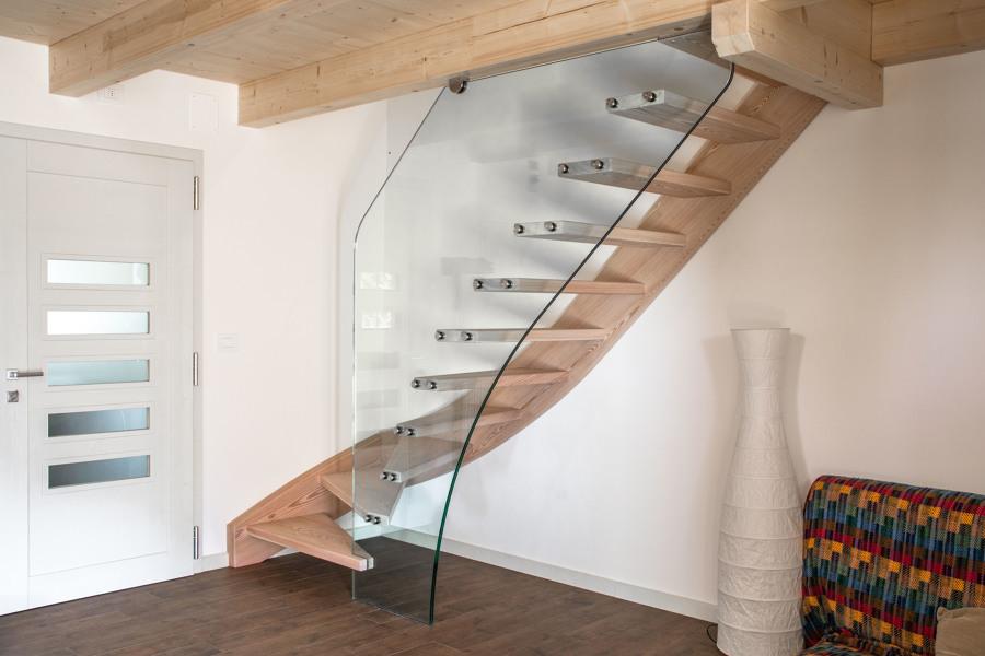 Scala in legno - vetro