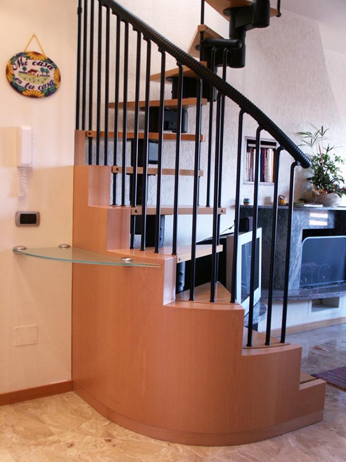 foto scala chiocciola di progetto legno srl 258845