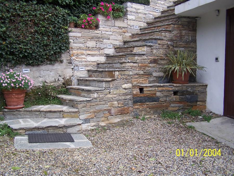 Foto scala in pietra di luserna a secco di alasia valter 149201 habitissimo - Scale per giardini ...