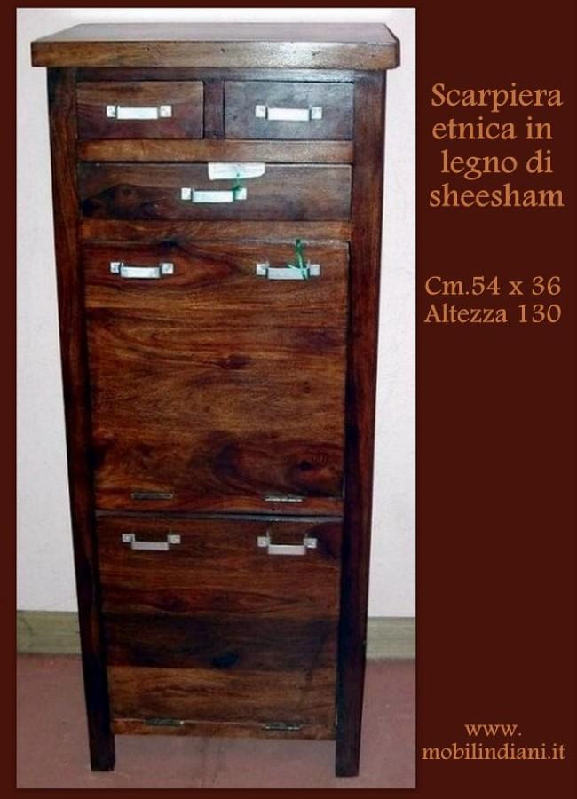 Foto scarpiera etnica in legno di mobili etnici 113649 habitissimo - Mobili etnici prato ...