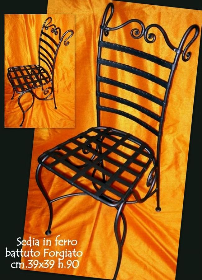 Foto sedia ferro battuto da giardino de mobili etnici - Mobili da giardino in ferro battuto ...