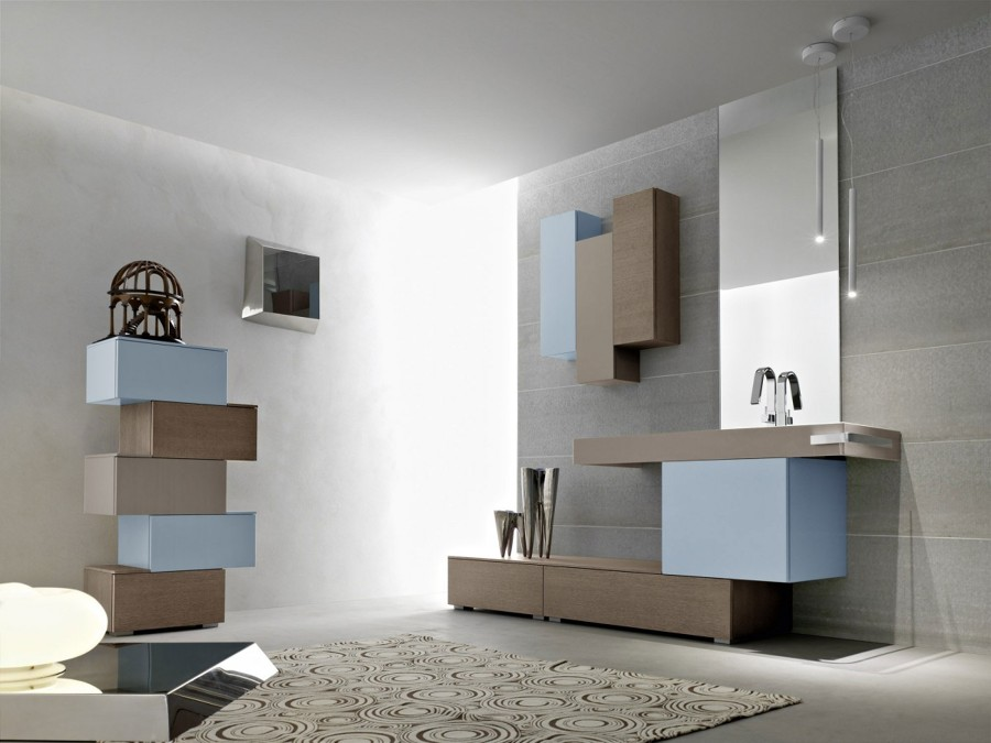 Arbi arredobagno - Serie Sky legno