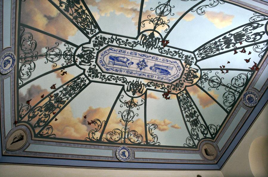 Soffitto A Cielo Di Carrozza : Decorazione di volta a cielo carrozza ...