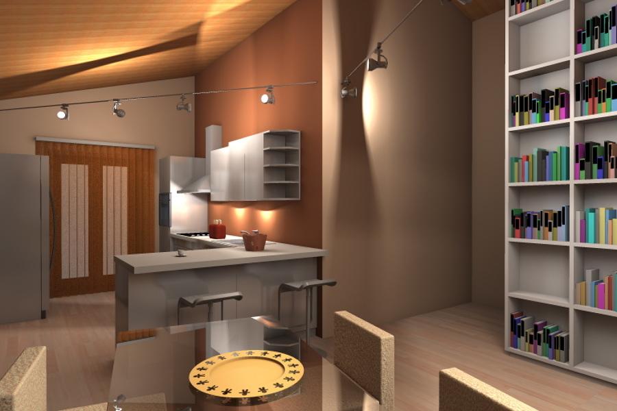 Foto soggiorno cucina di arch giorgia congiu 114779 - Divisori cucina soggiorno ...