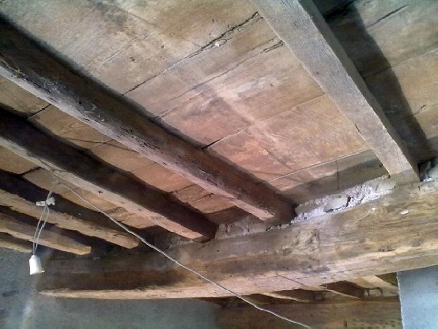 Solaio legno sabbiato