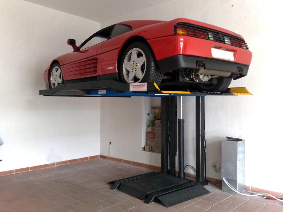 Foto sollevatori per auto monocolonna eurolif de for 2 piani di garage per auto con soppalco