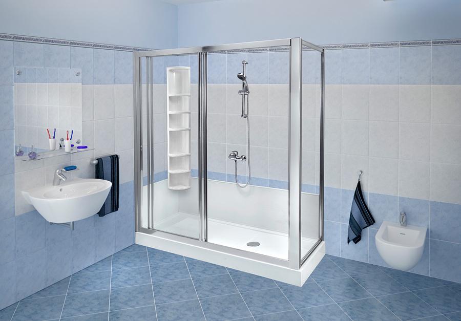Vasche Da Bagno In Vetro Prezzi : Foto trasformazione vasca in doccia standard con colonna di