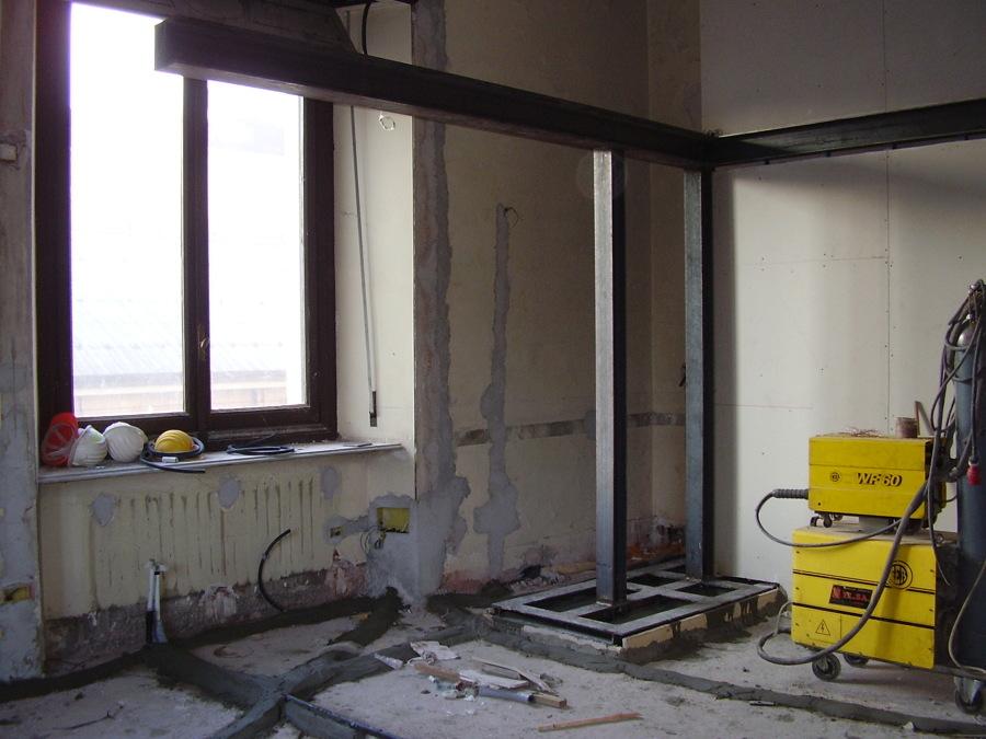 Foto struttura in ferro per soppalco di martorana massimo - Struttura in ferro per casa ...