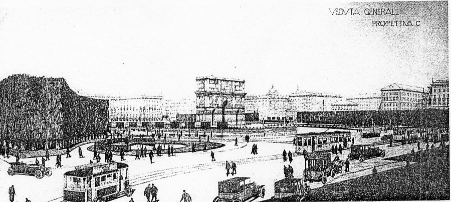 studio storico di urbanistica dei primi del novecento
