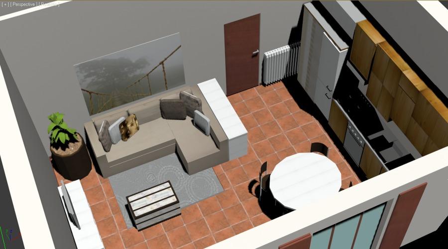 Studio zona living