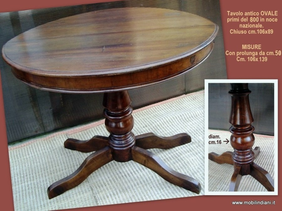 Foto tavolo antico tondo de mobili etnici 61515 habitissimo - Mobili etnici prato ...