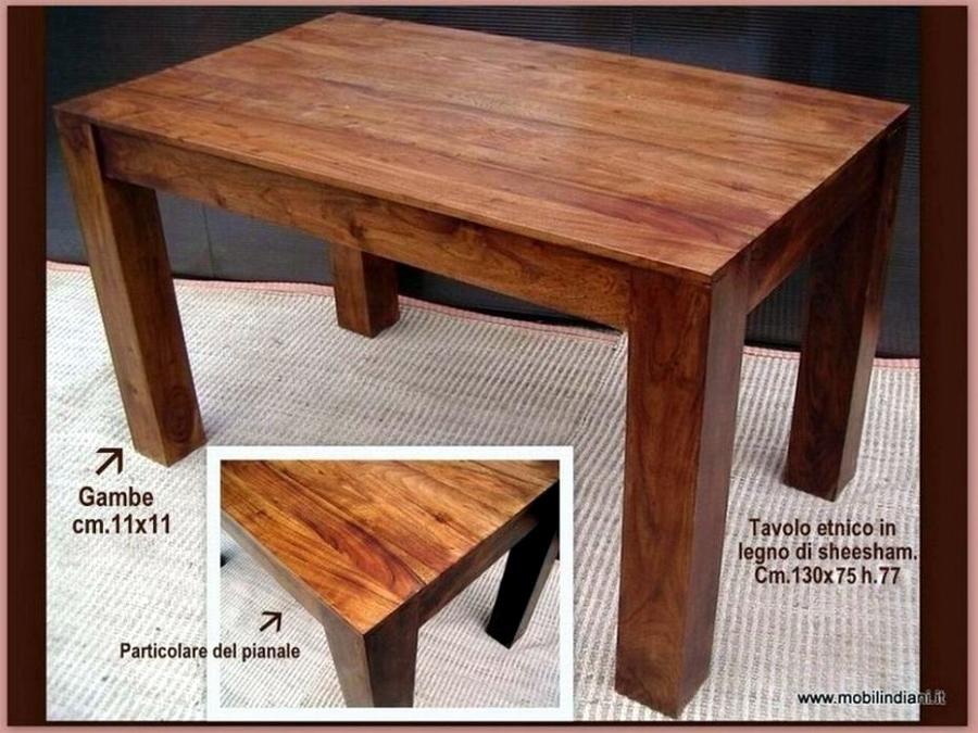 Foto tavolo etnico gamba quadrata di mobili etnici for Arredamento etnico torino