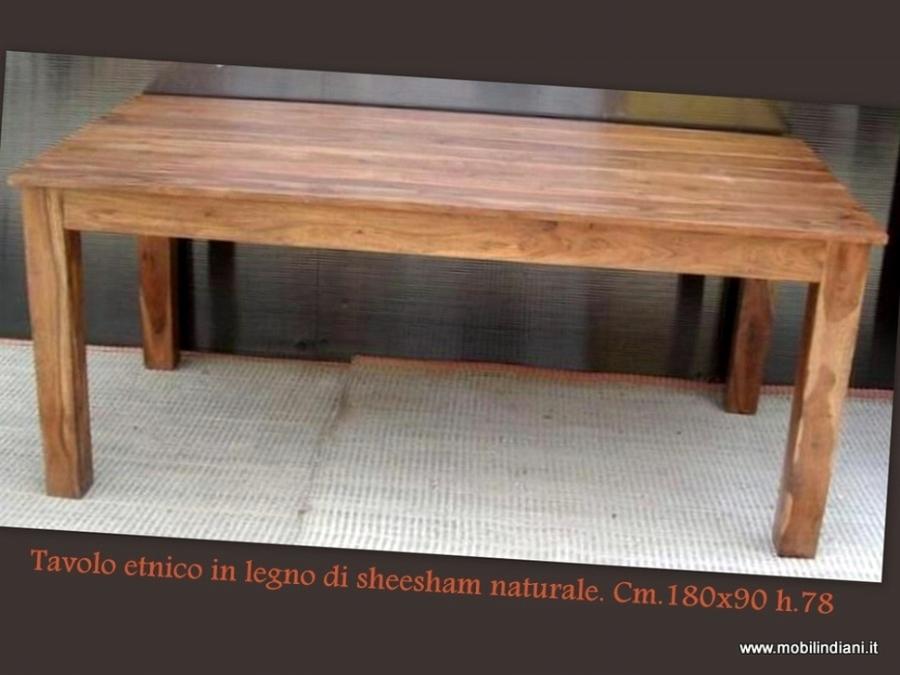 Foto tavolo indiano in legno massello de mobili etnici - Tavolo in legno massello ...