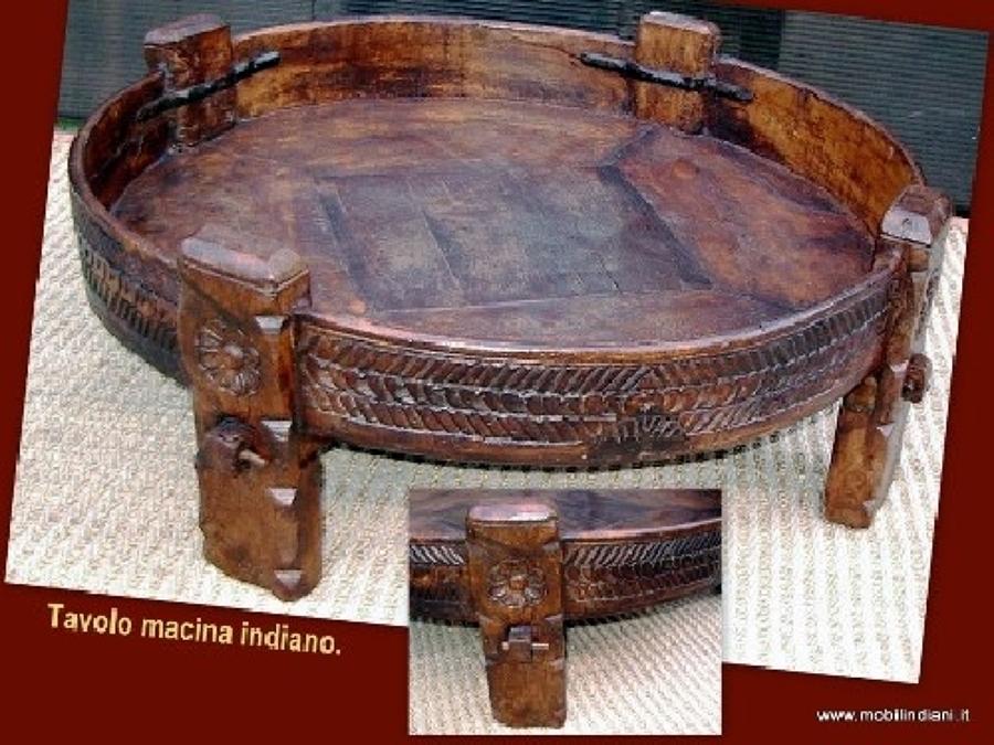 Foto tavolo macina indiano di mobili etnici 41123 for Negozi mobili usati trento