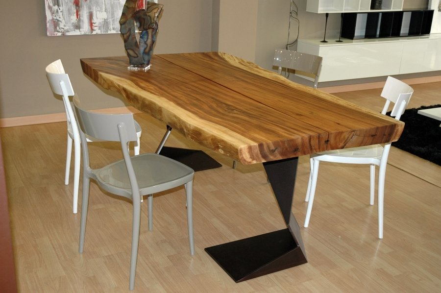 Top cucina ceramica: Piano tavolo legno massello