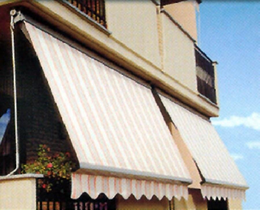 Tende da balcone con cassonetto protezione tessuto in alluminio e ...