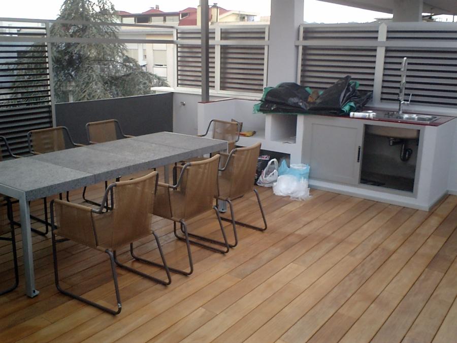 Foto terrazza arredata di impresa edile geom gianfranco for Terrazze arredate