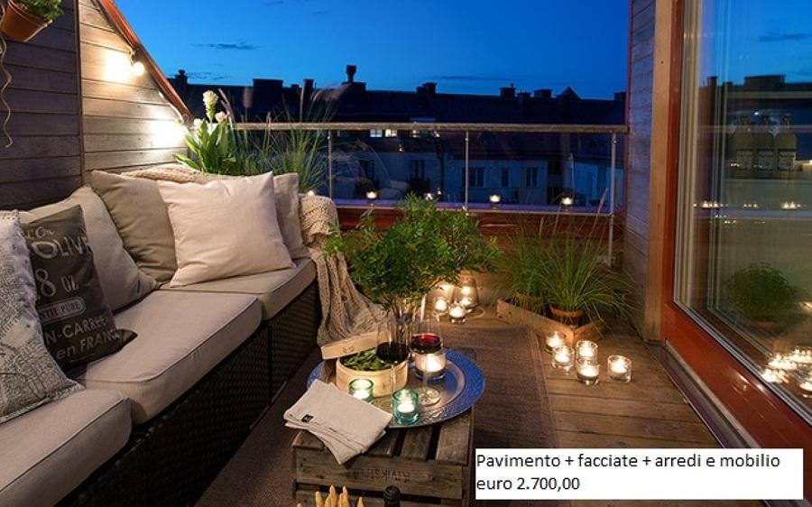 Terrazza/balcone esterna