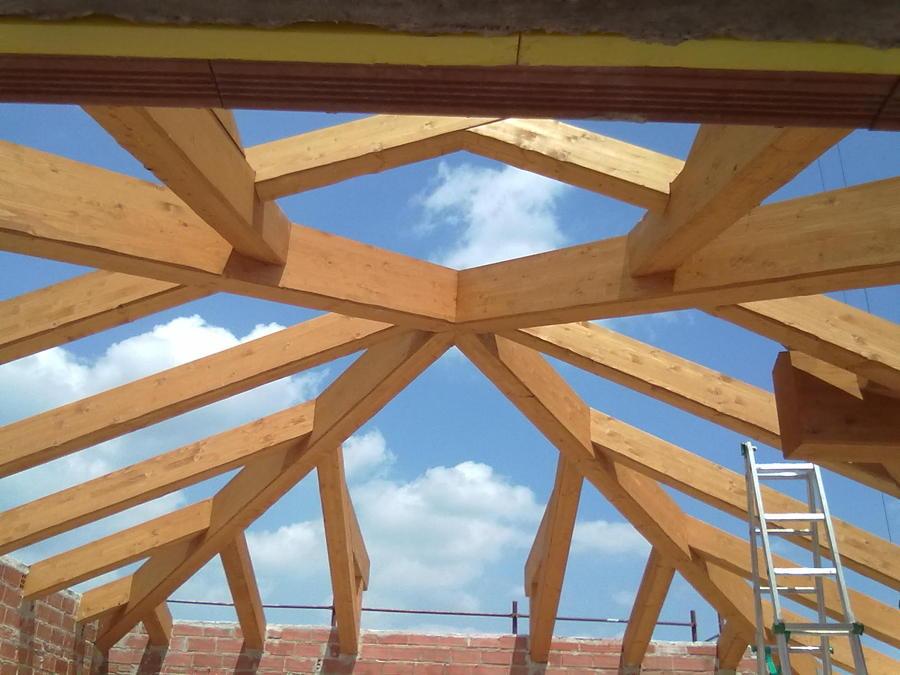 Foto tetto in legno lamellare de architetto pairetto for Soppalco in legno lamellare