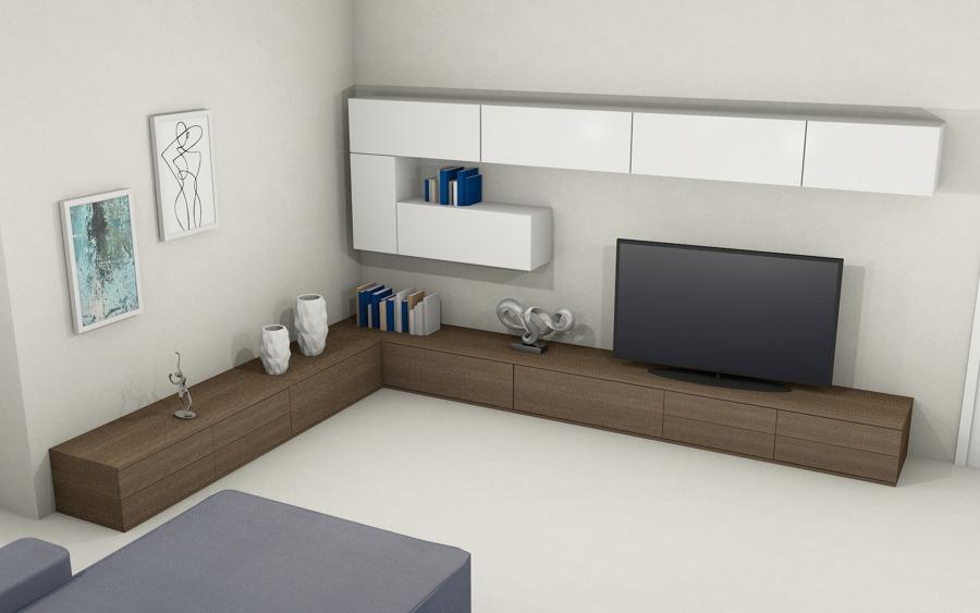 Progettazione Salotto in stile moderno per una casa privata