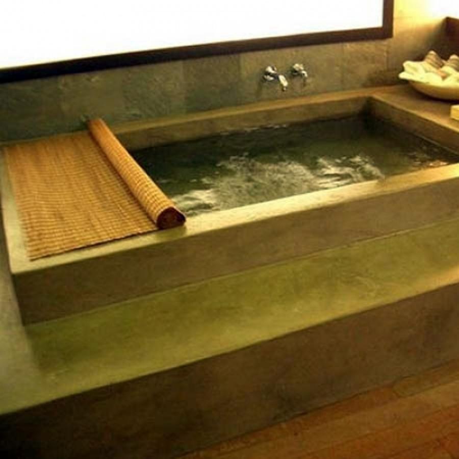 Foto: Vasca da Bagno Stile Lusso Moderno di Pavimento Moderno ...