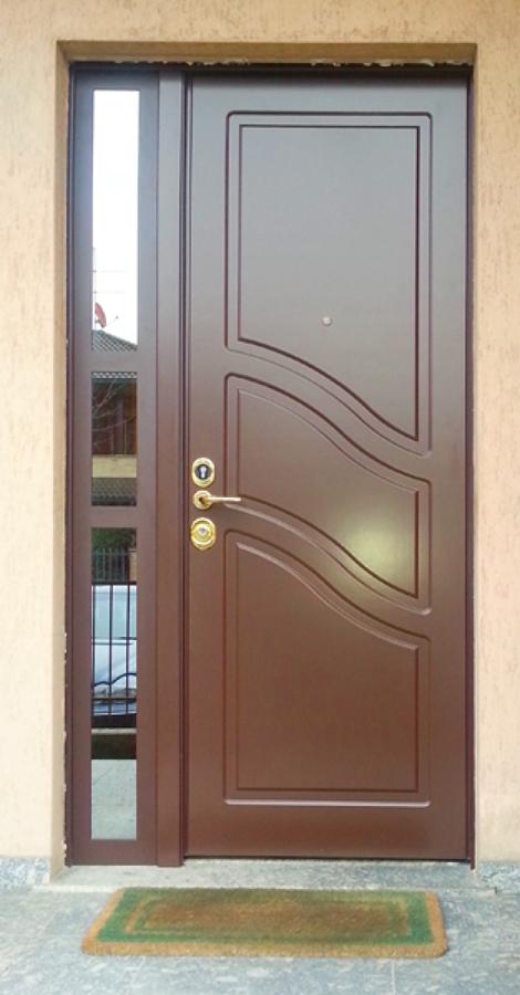 Porta di Sicurezza per esterni con fisso in vetro