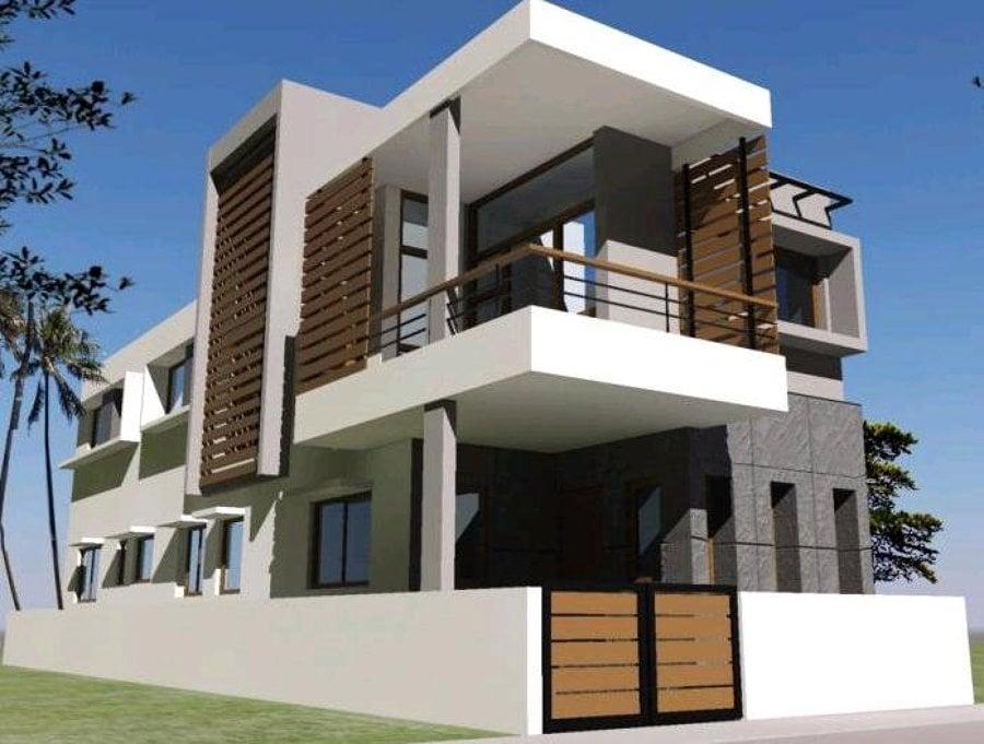 Foto villa prefabbricata in legno di dbiostudio 66513 Drawing modern houses