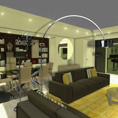 Rendering ristrutturazione_Appartamento_Arch. Dell'uomo